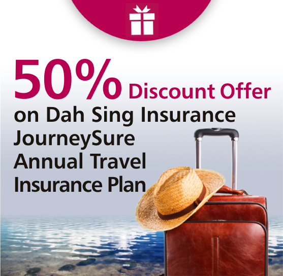 50% off on JourneySure Annual Travel Insurance Plan