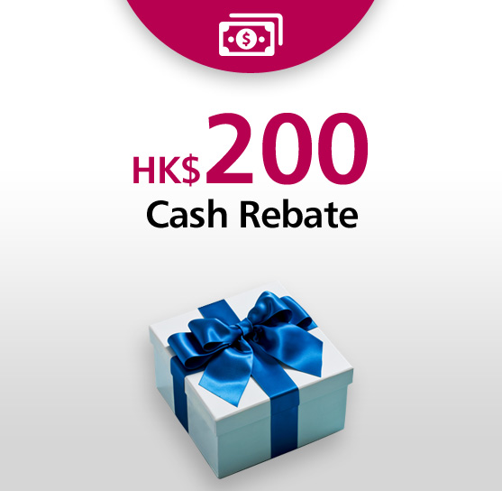 Welcome Gift HK$200 Cash Coupon