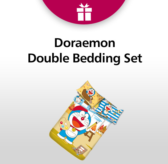 Welcome Offer Doraemon Double Bedding Set