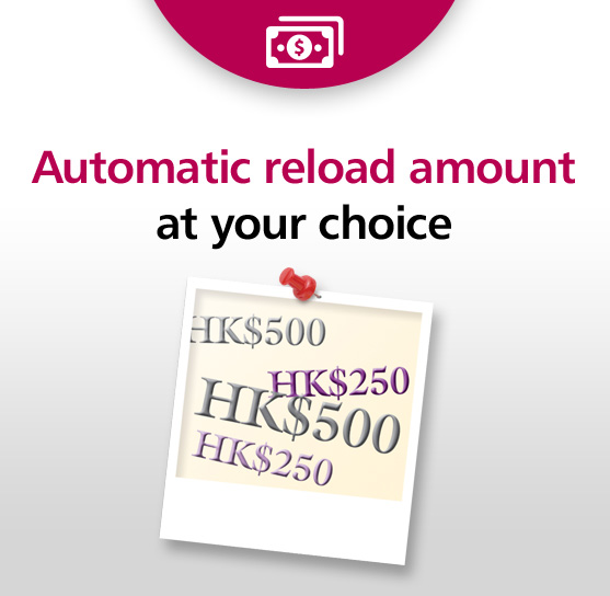 Automatic reload amount at your choice