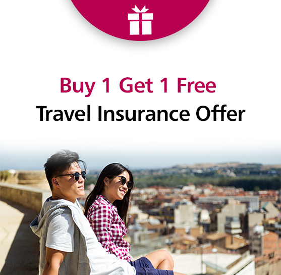 Buy 1 Get 1 Free Travel Insurance Offer