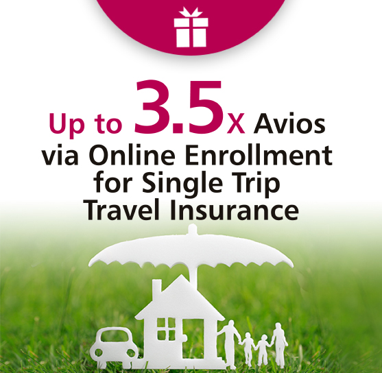 extra 10% cash rebate and up to 3.5X Avios^ on JourneySure Single Trip Travel Insurance Plan